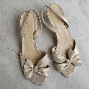 Kate Spade LORA Shimmer Suede slingback heels 10B